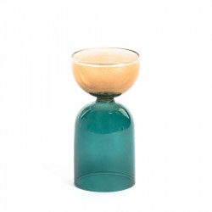 Vaza multicolor din sticla 15,5 cm Dibe Medium Kave Home
