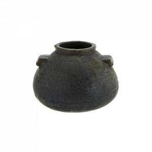 Vaza neagra din ceramica 7,5 cm Montaigu Madam Stoltz