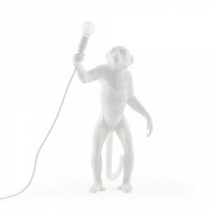 Veioza alba din rasina 54 cm The Monkey Standing Seletti