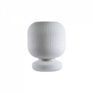 Veioza alba din sticla 25 cm Maiko Table White Bolia