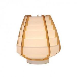 Veioza bej din lemn si plastic 27 cm Nagoja Candellux