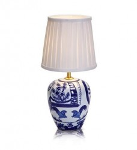 Veioza ceramica cu detalii albastre 17x33cm Göteborg Markslojd