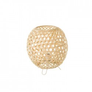 Veioza crem din fier si bambus 23 cm Kristy Unimasa