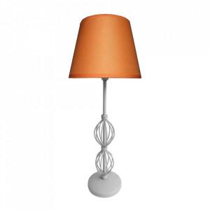 Veioza din PVC si otel 48 cm Rosette Orange Candellux