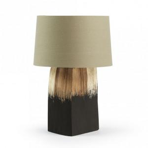 Veioza grej/neagra din poliester si lemn 52 cm Scalm La Forma