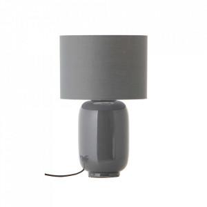 Veioza gri din ceramica si bumbac 43 cm Cadiz Frandsen Lighting