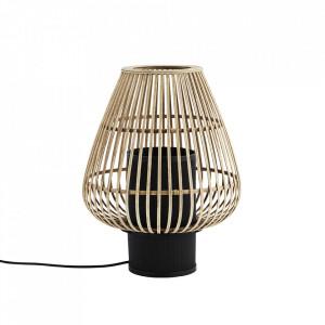 Veioza maro/neagra din bambus si fier 47,5 cm Bamboo Madam Stoltz