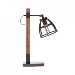 Veioza maro/neagra din lemn si metal 53 cm Matrix Brilliant