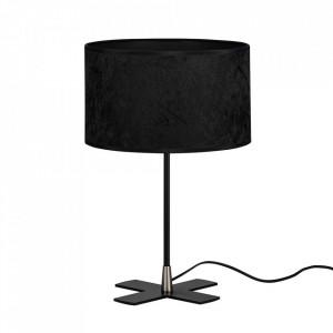 Veioza neagra din catifea si otel 40 cm Quince Bulb Attack