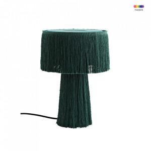 Veioza verde din poliester si fier 38 cm Emerald Mushroom Madam Stoltz