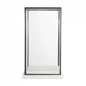 Vitrina din marmura si sticla 33 cm Marbel House Doctor