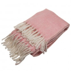Pled roz din fibre acrilice 127x152 cm Gali Pink Zago
