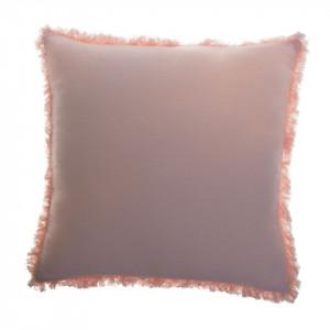 Perna decorativa patrata roz din bumbac 45x45 cm Enes Rose Zago