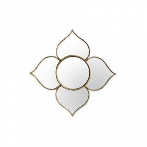 Oglinda rotunda aurie din polirasina 23 cm Louis Big Golden Objet Paris
