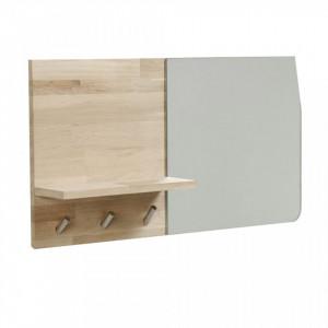 Cuier maro cu oglinda din lemn de stejar Maiten La Forma