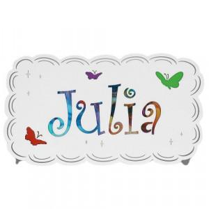 Decoratiune luminoasa multicolora pentru perete din metal si plastic Ruti Julia Aldex