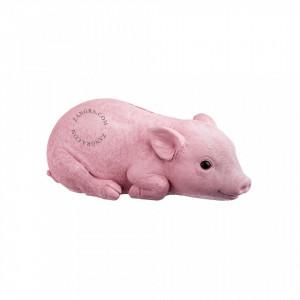 Pusculita roz din polirasina Piggy Zangra
