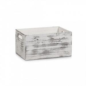 Cutie alba din lemn Rustic White Zeller