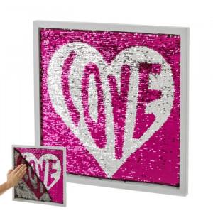 Decoratiune din MDF pentru perete 40x40 cm Love Unimasa