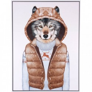 Tablou multicolor din MDF si polistiren 60x80 cm Wolf Vest Somcasa