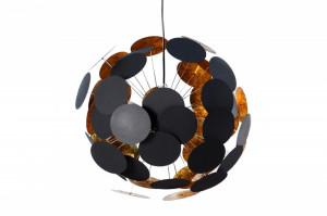 Lustra neagra/aurie din metal cu 6 becuri Infinity Invicta Interior