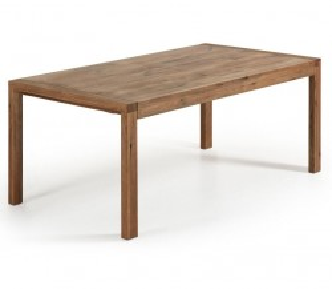 Masa dining extensibila dreptunghiulara maro din lemn de stejar 90x(180)230 cm Vivy La Forma