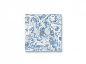 Set 20 servetele albastre 16,5x16,5 cm Marbling Dusty Blue Ferm Living
