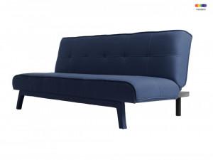 Canapea extensibila albastra din poliester si lemn pentru 2 persoane Modes Ink Custom Form