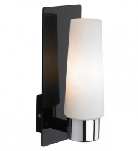 Aplica LED neagra/alba din metal si sticla pentru baie Manstad Black Markslojd