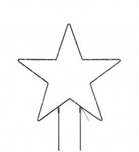 Decoratiune luminoasa LED neagra din metal pentru exterior Mystic Star Markslojd