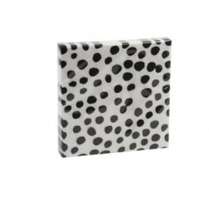 Set 20 servetele 33x33 cm Dots White Black Zangra