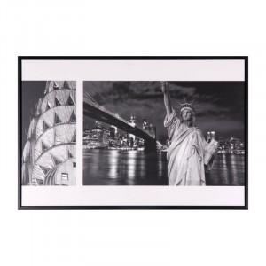 Tablou alb/negru din MDF si polistiren 40x60 cm Liberty Somcasa