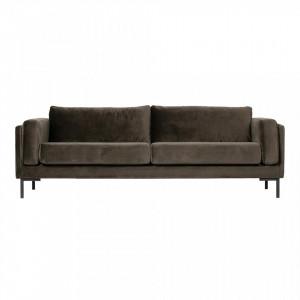Canapea maro din poliester 236 cm Maeve Woood
