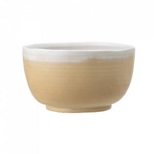 Bol galben din ceramica 1,75 L Tomia Bloomingville