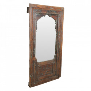 Oglinda dreptunghiulara maro din lemn si sticla 95x182 cm Target Raw Materials