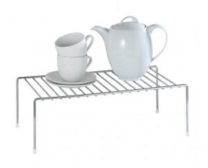 Suport argintiu din metal 22x42,5 cm pentru bucatarie Dish Rack Wenko