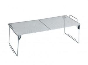 Suport argintiu din metal 20x45 cm pentru bucatarie Shelf Stackable Wenko