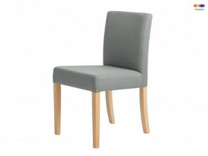 Scaun dining gri din lemn si poliester Wilton Platinum Custom Form