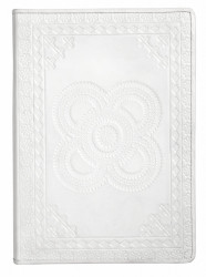 Agenda alba din piele 21x30 cm Embossed Buffalo Leather Nordal