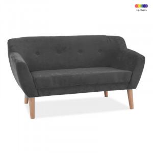 Canapea gri din textil si lemn 139 cm Bergen Signal Meble