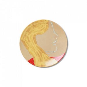 Platou decorativ multicolor din ceramica 37,5 cm Mira Ferm Living