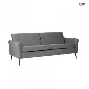 Canapea gri inchis din lemn de pin si poliester pentru 2 persoane New York Dark Grey Somcasa