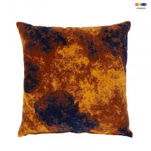 Perna decorativa patrata multicolora din bumbac 50x50 cm Evina Leather Brown LifeStyle Home Collection