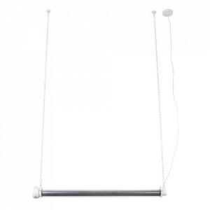 Lustra alba/argintie din fier Prime XL Zuiver