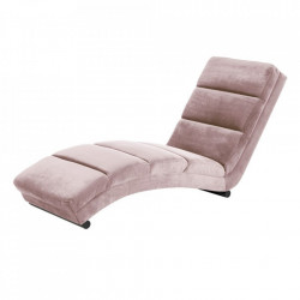 Pat de zi roz prafuit/negru din textil si metal 170 cm Slinky Actona Company