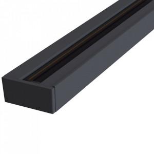 Sina neagra din aluminiu pentru spoturi Track Busbar Maxi Black Maytoni