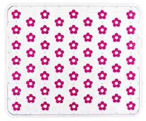 Protectie roz/transparenta din plastic pentru chiuveta 26,5x32 cm Fleurelle Pink Wenko