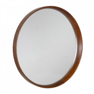 Oglinda maro din lemn de fag si sticla 80 cm Evika Ixia