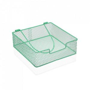 Suport verde din metal pentru servetele Napkin Versa Home