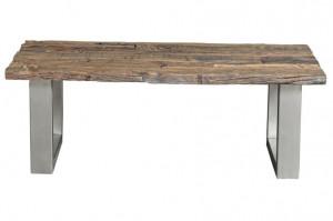 Masa maro din lemn si otel pentru cafea 60x110 cm Railwood Giner y Colomer